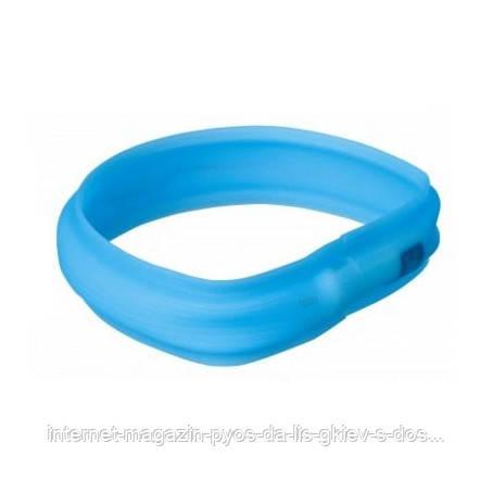 Trixie USB Flash Light Band blue XS-S ошейник силикон светящийся синий 35cм х 30мм