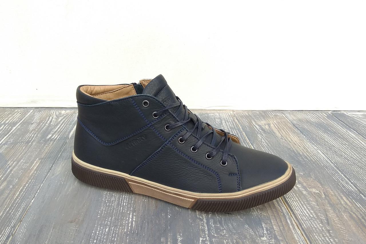 Зимові шкіряні кеди - тепле і стильне чоловіче взуття!
