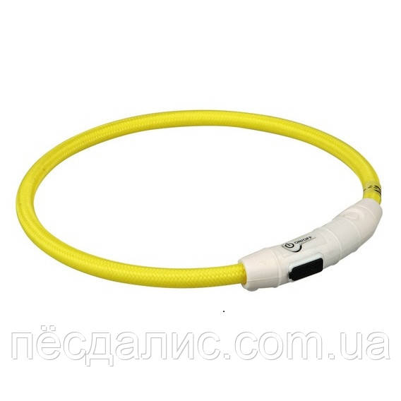 Trixie USB Flash Light Ring M-L ошейник светящийся желтый 45см