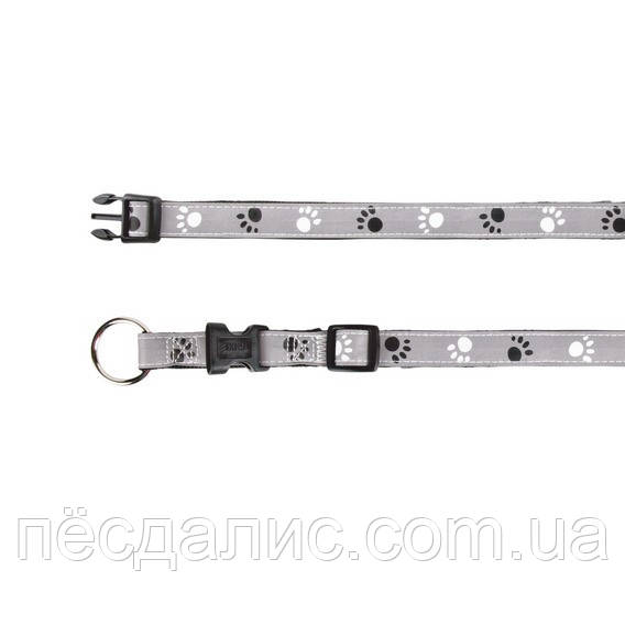 Trixie Silver Reflect Collar S-М ошейник светоотражающий 30-45см, 15мм