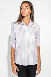 Рубашка женская в мелкую полоску 51P001 (Розово-серый)
