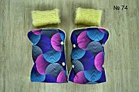 Разноцветные зимние рукавицы на овчине для санок и колясок