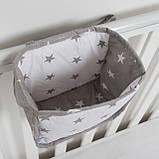 Детский карман - органайзер 17*19 тканевый на деткую кроватку подвесной для хранения игрушек и книг, фото 3