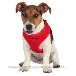 Trixie Puppy Soft Harness with Leash шлея мягкая с поводком для щенка красная 33-47см, 10мм