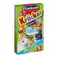 Vitakraft Kracker лакомство-крекеры для кроликов с овощами и попкорном, 3шт