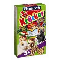 Vitakraft Kracker лакомство-крекеры для кроликов с овощами, орехами и лесными ягодами, 3шт