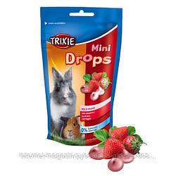 Trixie Mini Drops strawberry лакомство для грызунов Клубника, 75г