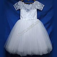 """Детское нарядное платье """"Восторг"""" (белое) Возраст 3-4 года., фото 1"""