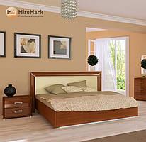 """Ліжко """"Белла"""" з підйомним механізмом 160*200 Миро-Марк (ваніль глянець,вишня бюзум)."""