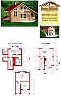 Проект дома из профилированного бруса 102,1 м2. Проект дома бесплатно при заказе строительства
