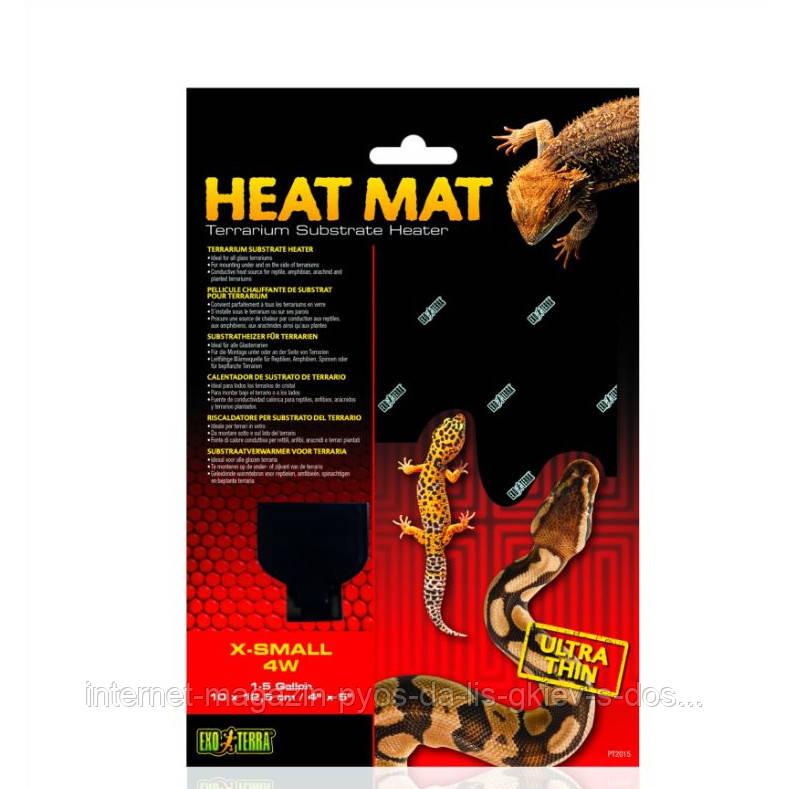 Hagen Exo Terra HEAT MAT X-Small нагревательный коврик для террариумов пустынного типа, 4W,10х12.5см