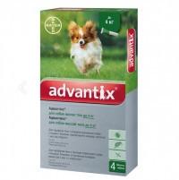 Bayer Адвантикс капли для профилактики и лечения заражения эктопаразитами собак до 4кг, 1 уп. 4 пип.