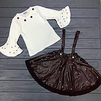 Нарядный Комплет юбка и блузка для девочек оптом р.3-8 лет, фото 1