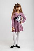 Платье детское Кошка сирень