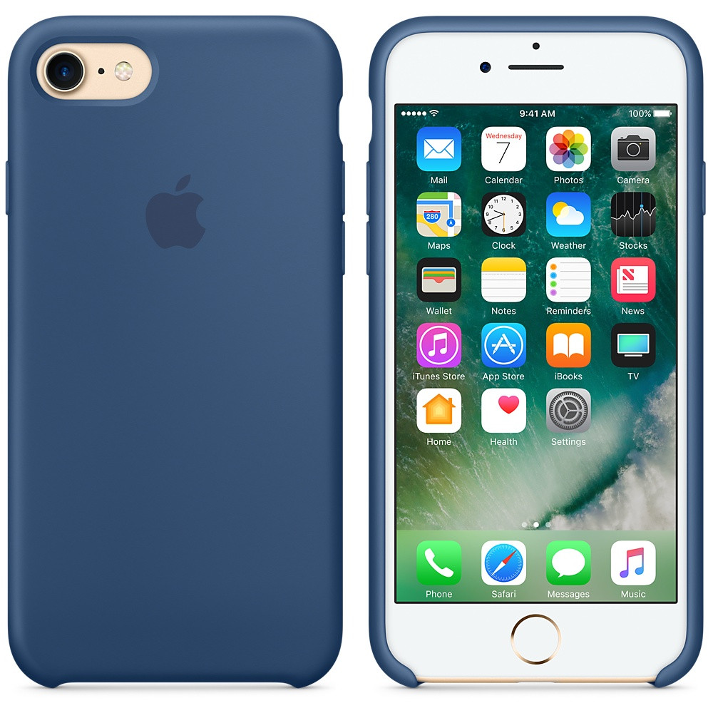 Apple Silicon Case for iPhone 7/8 Navy Blue