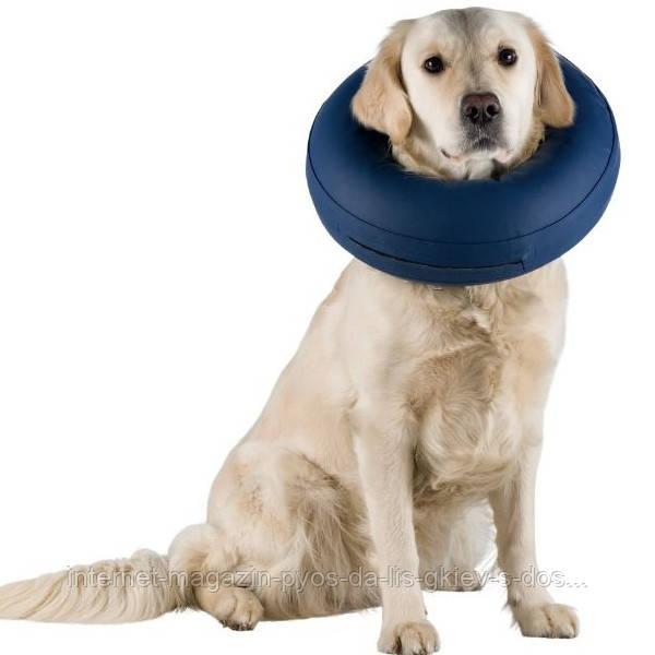 Trixie Protective Collar М-L защитный ветеринарный воротник надувной для собак, 45-57см