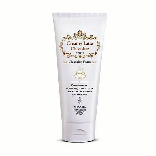 Очищающая пенка для усталой и сухой кожи Missha Creamy Latte Cleansing Foam (Chocolate)