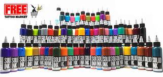 Тату краска SOLID INK 1 унция (30 мл)
