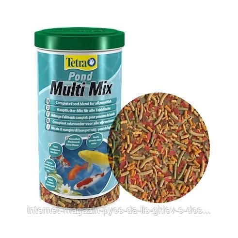 Tetra Pond Multi Mix смесь из нескольких сортов корма, 1л