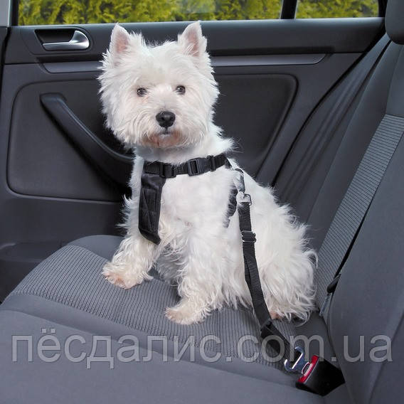 Тrixie Car Harness М автомобильная шлейка с ремнем безопасности 50-70см/25 мм