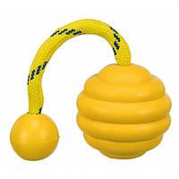 Trixie Sporting Wavy Ball аппортировочный мяч для собак желтый 7см