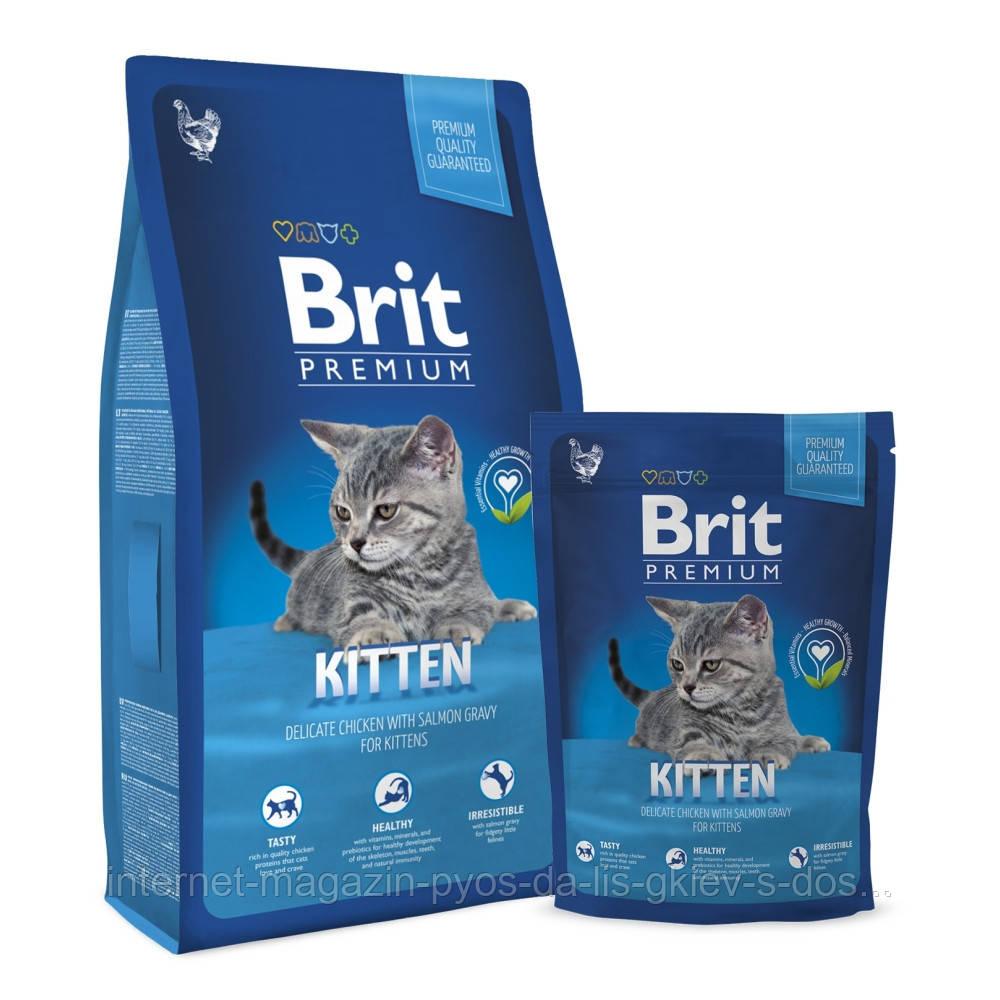 Brit Premium Cat Kitten корм для котят с курицей, 8кг