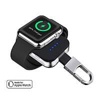 Портативный аккумулятор Qitech Key Bank Powerbank брелок для зарядки Apple Watch Черный, фото 1