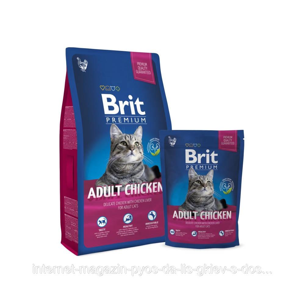 Brit Premium Cat Adult Chicken корм для взрослых кошек с курицей, 300г