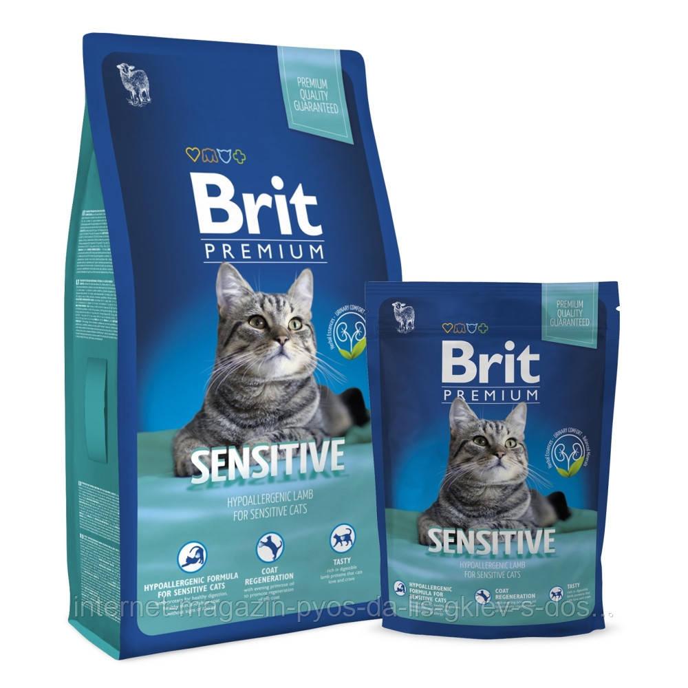Brit Premium Cat Sensitive корм для кошек с чувствительным пищеварением, 300г