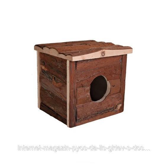 Trixie Jerrik House домик из натурального дерева для мелких грызунов 15х14х13см