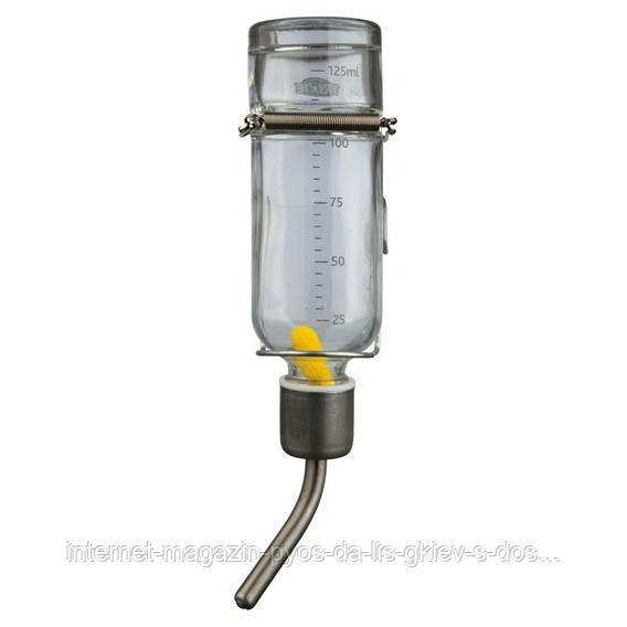 Trixie Small Animal Glass Water Bottle поилка стеклянная для грызунов 125мл
