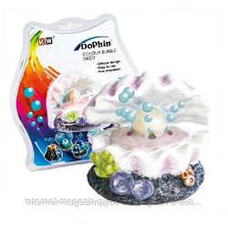 KW Dophin Декор Морская раковина с распылителем для аквариума