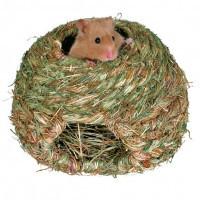 Trixie Grass Nest травяное гнездо для мелких грызунов 16см