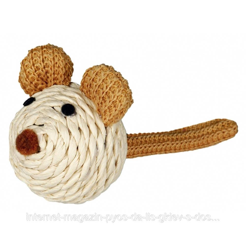Trixie Mouse paper yarn игрушка для кошки Мышка из бумажной пряжи 5см