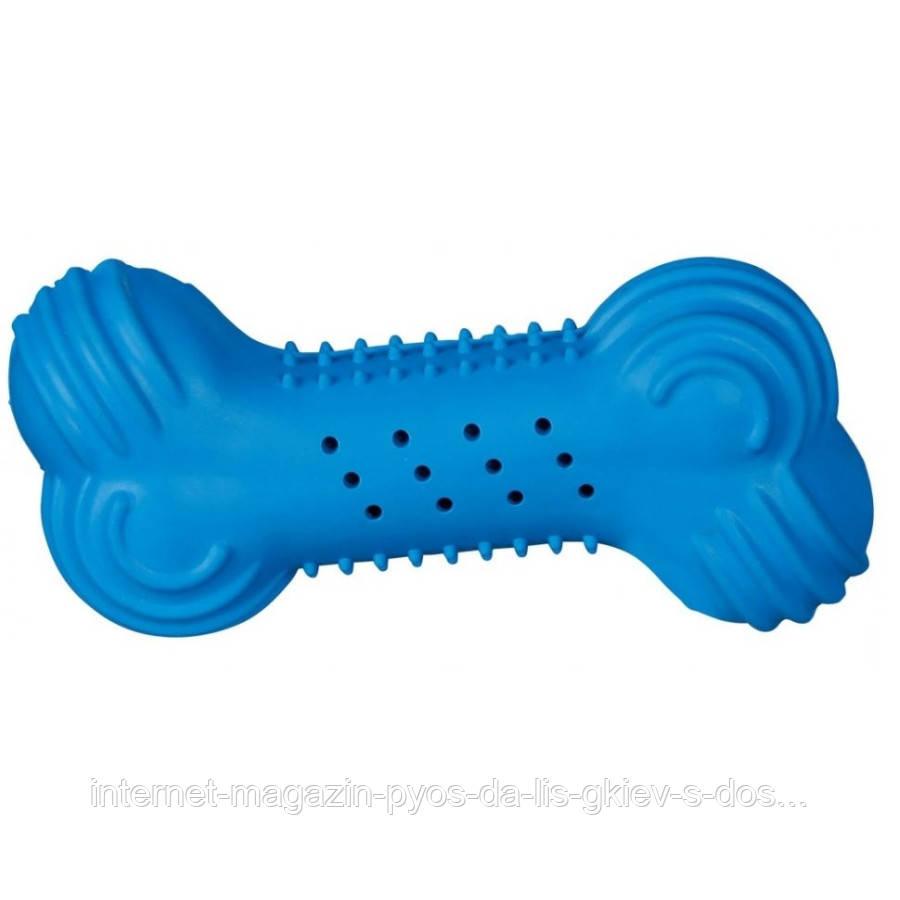 Trixie Cooling Bone Natural Rubber игрушка для собак Гантель охлаждающая 11см