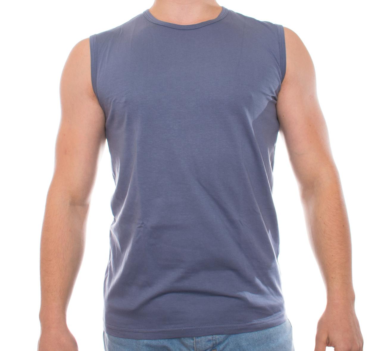 Мужская футболка без рукавов 000112