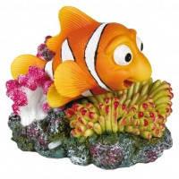 Trixie декорация Рыбка Немо и коралл с распылителем, 12см