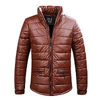 Мужская куртка коричневая из качественного кожзама West