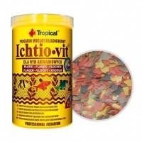 Tropical ICHTIO-VIT пластівчастий корм для всеїдних видів риб, 1л