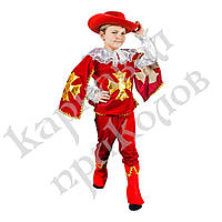 Маскарадный костюм Мушкетер красный (размер М), фото 1