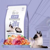 Brit Care Cat Lilly Ive Sensitive Digestion корм для кішок з чутливим травленням з ягням і лососем, 7кг
