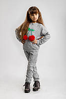Костюм спортивный детский Вишня на флисе, фото 1