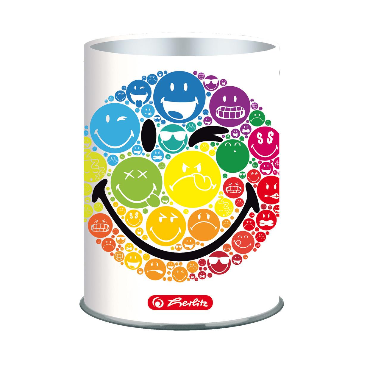 Подставка для ручек металлическая Herlitz Smiley World Rainbow (50002108)