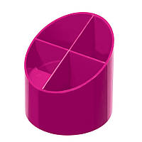 Подставка для ручек Herlitz Colour Blocking Cool Pink пластиковая малиновая (11363751)