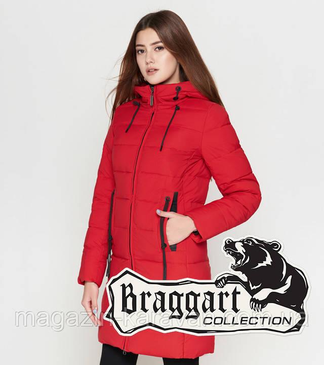 Braggart Youth | Женская зимняя куртка 25005 красная 42 46 48 размеры