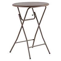 Круглий стіл барний «TR-8103» коричневий, d=80 див., фото 1