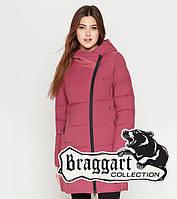 Braggart Youth   Женская зимняя куртка 25085 розовая 42 44 46 48 50 размеры