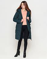 Удлиненная женская куртка 25205 бирюза 42  размеры