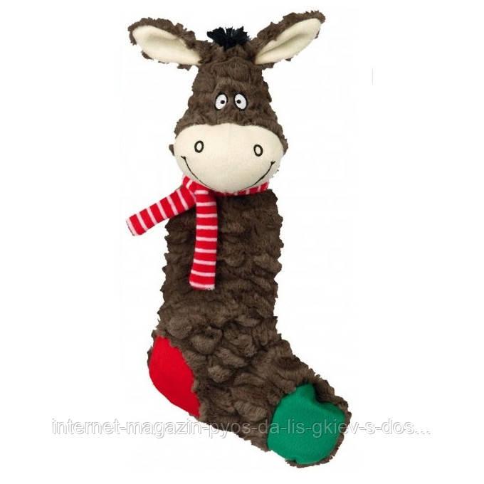 Trixie Donkeys and Sheep Рождественская игрушка Ослик, Овечка носок плюш 32см