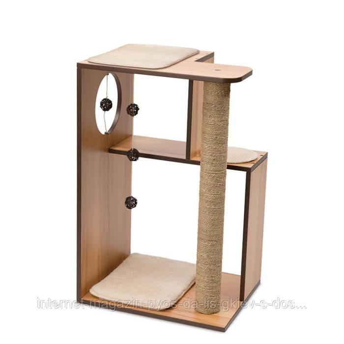 Hagen Vesper V-Box Walnut Large когтеточка дряпка для кошек орех 50x40x78см